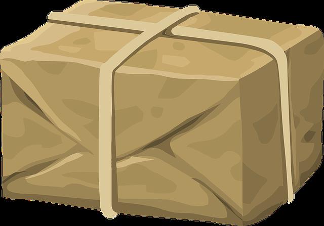 חבילה של חברת שליחויות